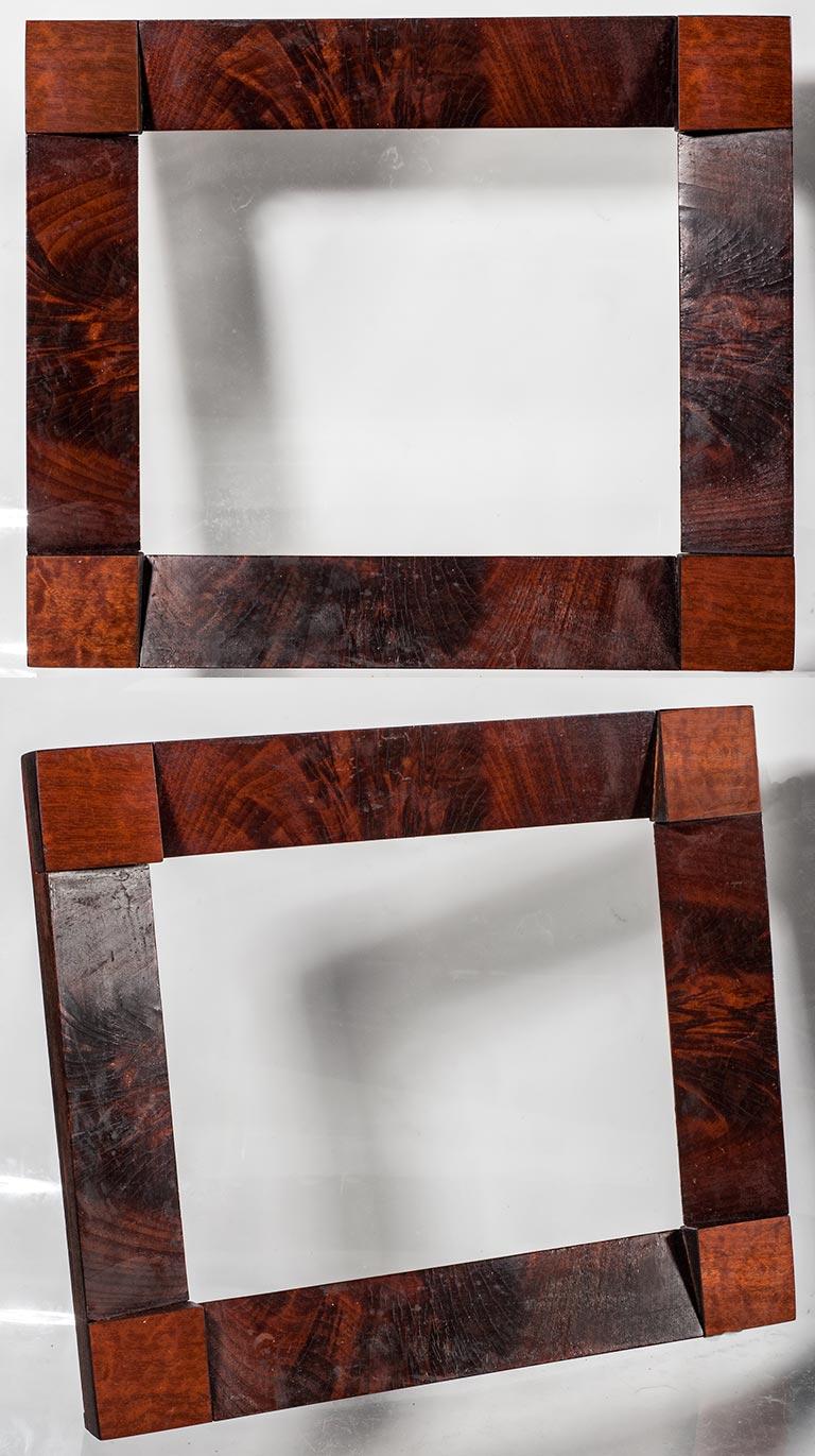 faux bois wall stencil